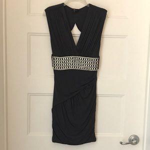 Gorgeous Sky Slate Grey Dress - Size S